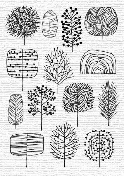 424x600 Pin By Joanna Jakubowska On Knitting Drawing Trees