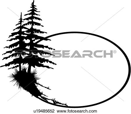 450x393 Pine Tree Clipart Line Drawing