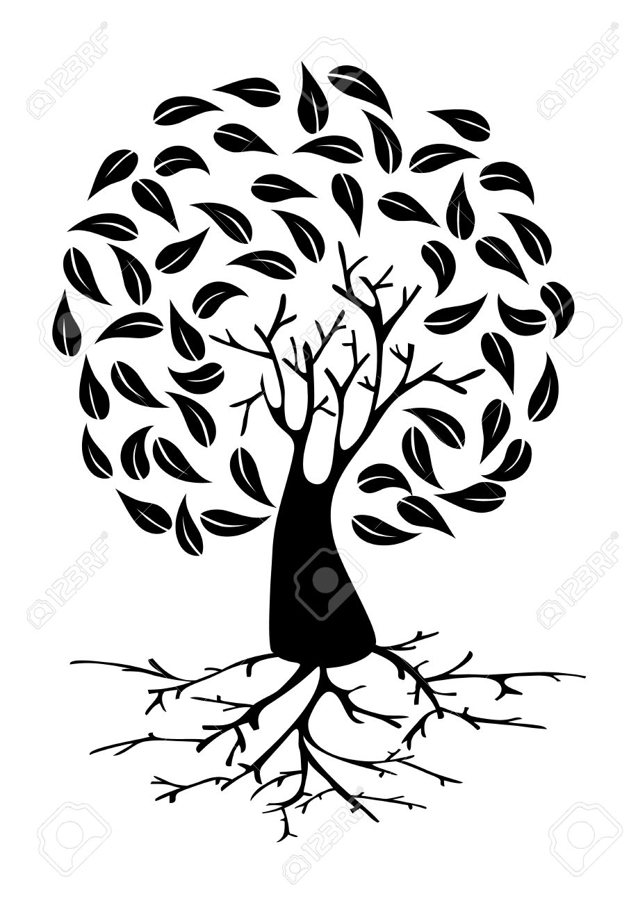 918x1300 Tree With Long Roots Clipart