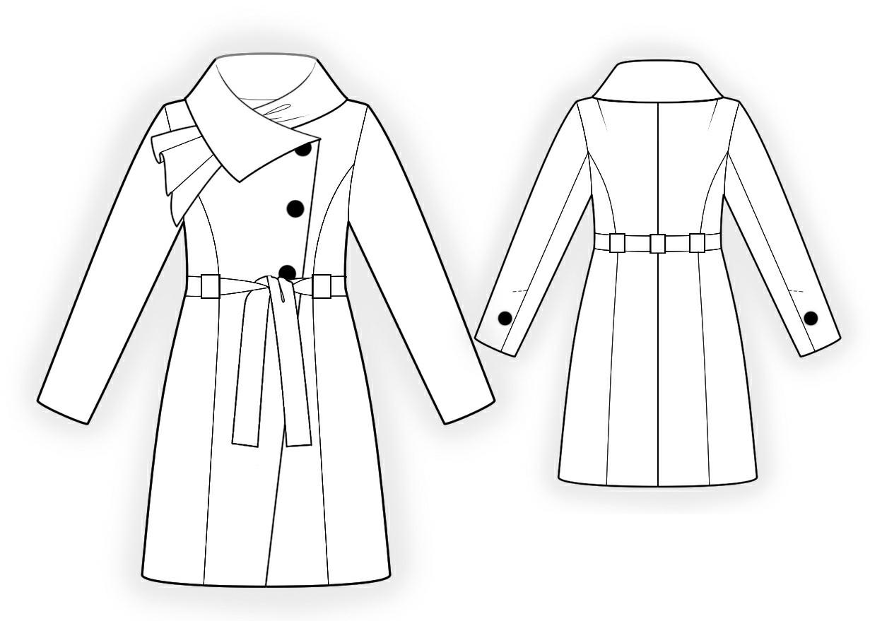 1231x879 Coat With Decorative Collar