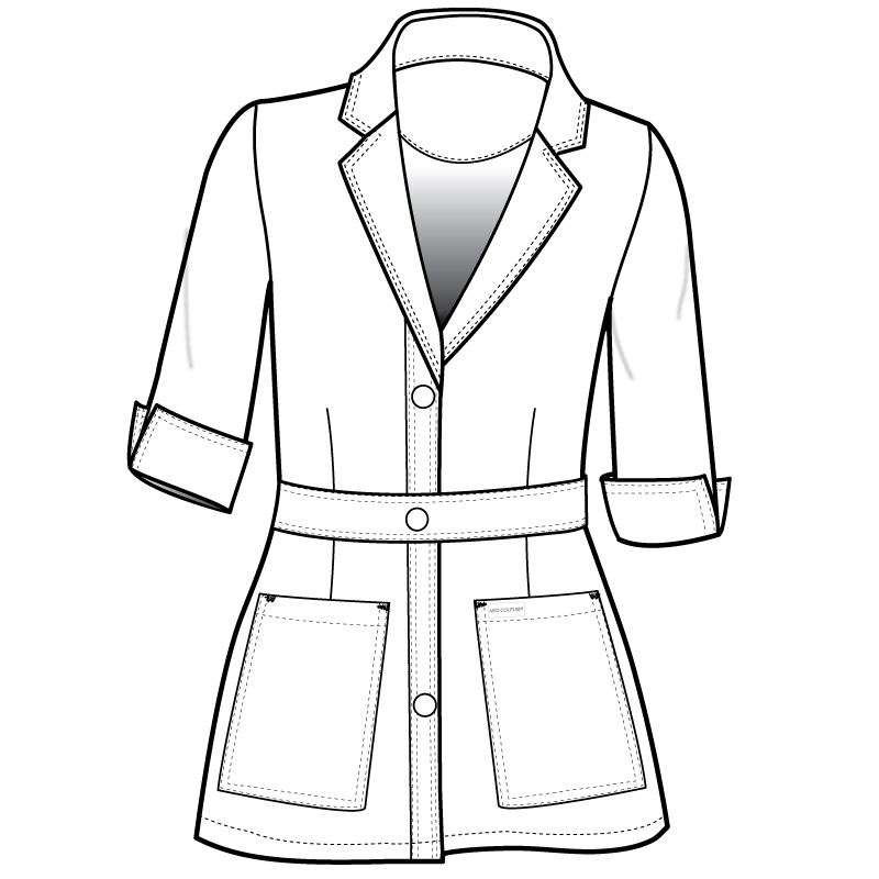 800x800 Style 9604 Women's Mid Length Lab Coat Med Couture