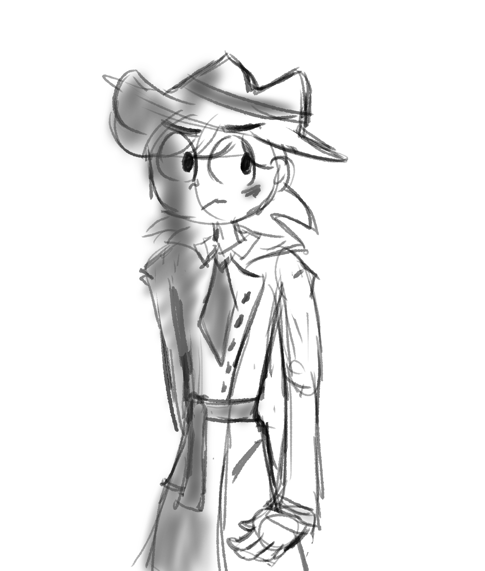 1700x2000 I Drew A Guy In A Trench Coat By Thepurplegriffin