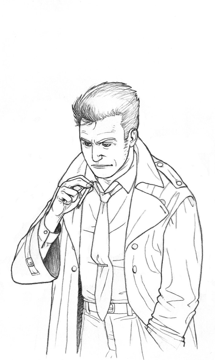700x1172 A Man In Trench Coat By Alcaris