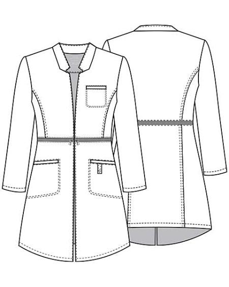 450x565 Cherokee 1404 32 Lab Coat Discount Nursing Uniforms