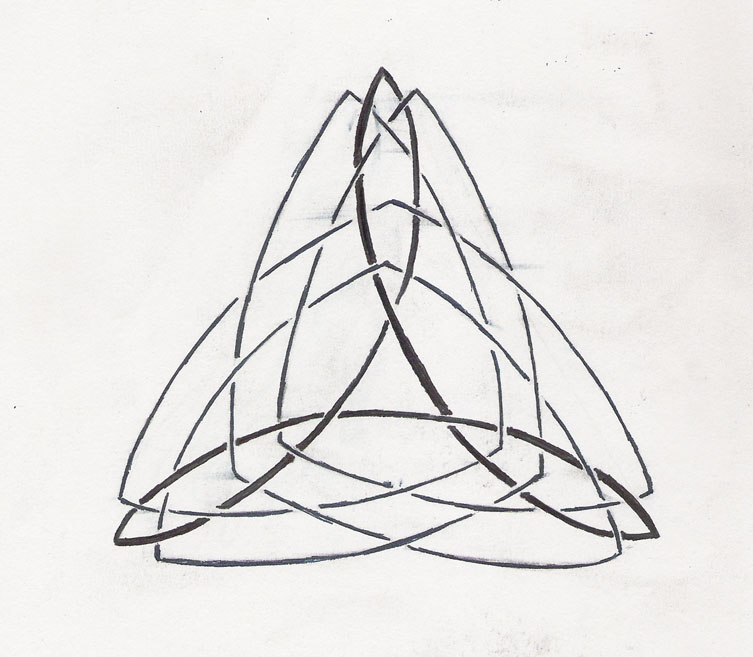 753x657 Celtic Triangle Tattoo Design By Qwonk