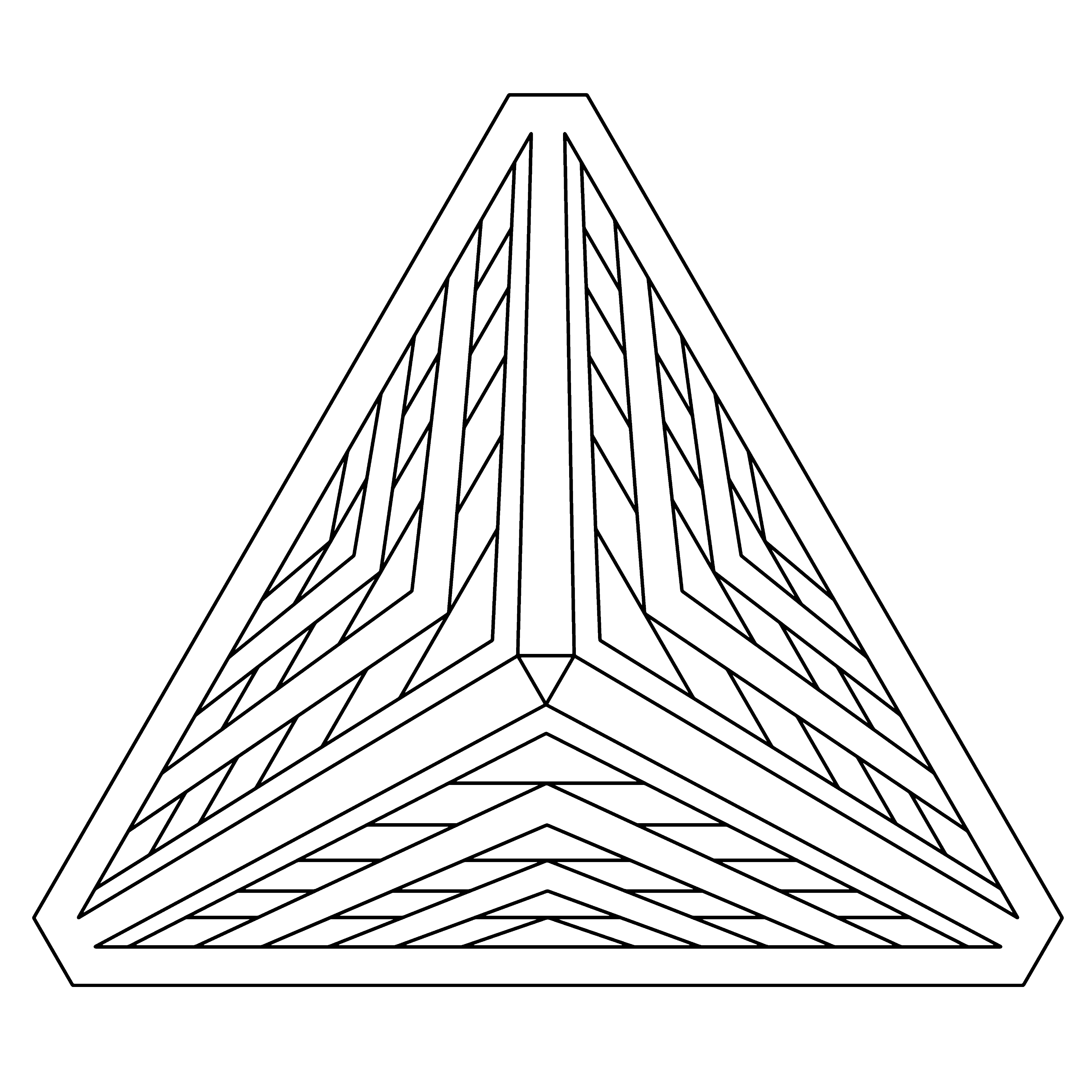 3400x3400 Geometric Coloring Pages To Print 3d Illusion Geometric Coloring