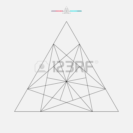 450x450 Geometric Shape, Vector Triangle Isolated Royalty Free Cliparts