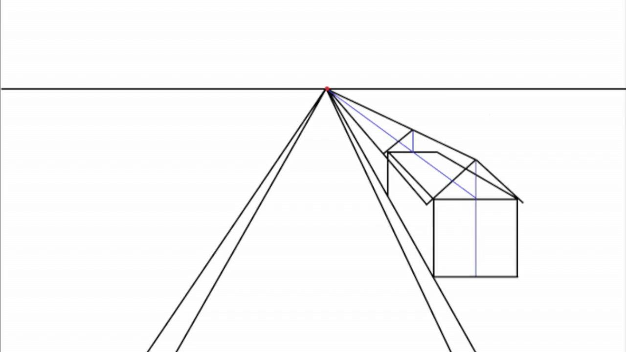 1280x720 How To Draw A Peaked Roof House In One Point Perspective