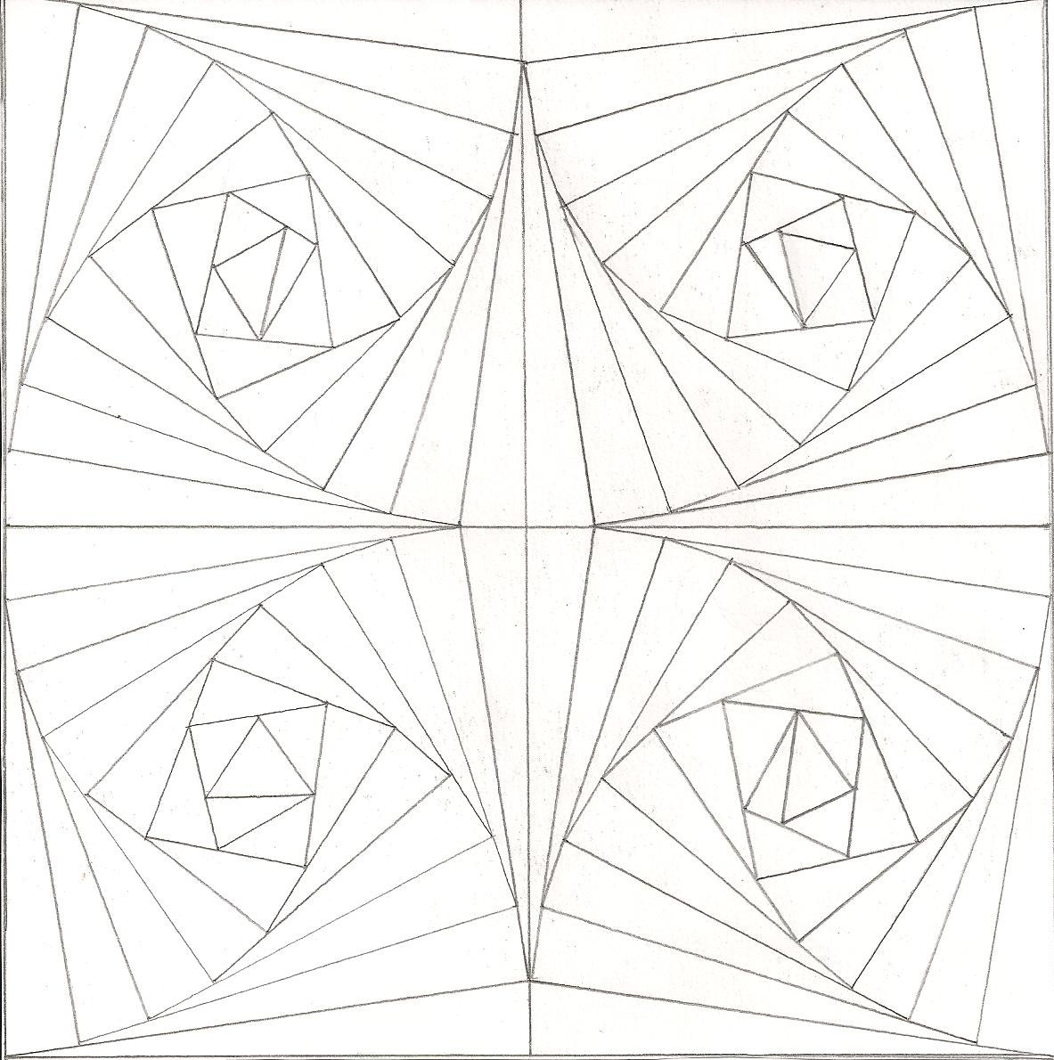 1183x1190 Optical Illusions Coloring Pages Paginone.biz