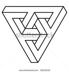 236x246 Optical Illusion Triangle Art Illusions, Triangles