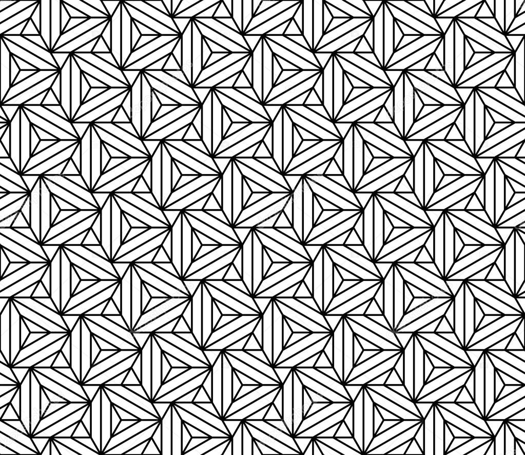 1023x886 Vector Modern Seamless Sacred Geometry Pattern Triangles Illusion