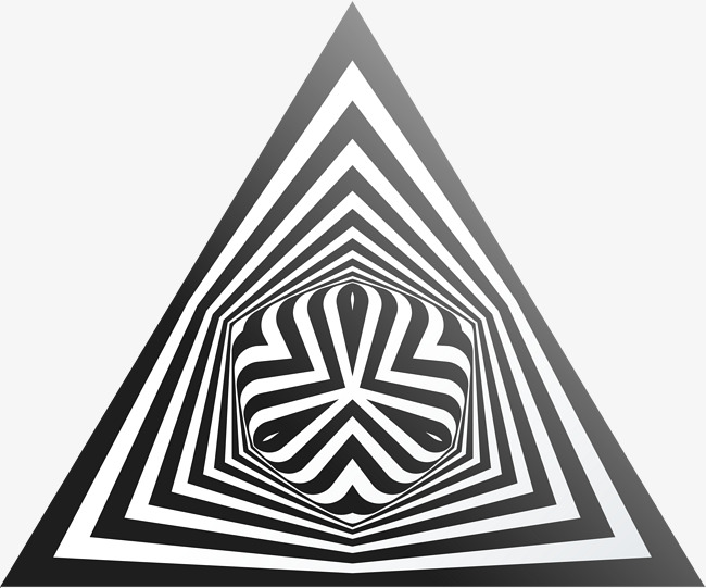 650x541 Visual Illusion Effect Geometry, Vector Material, Triangle