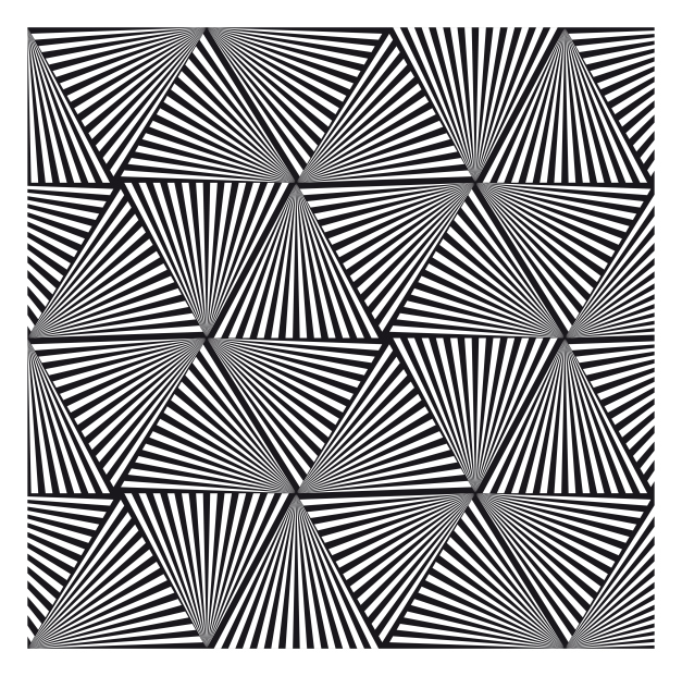 627x621 Optical Illusion Pattern With Triangles Patterns