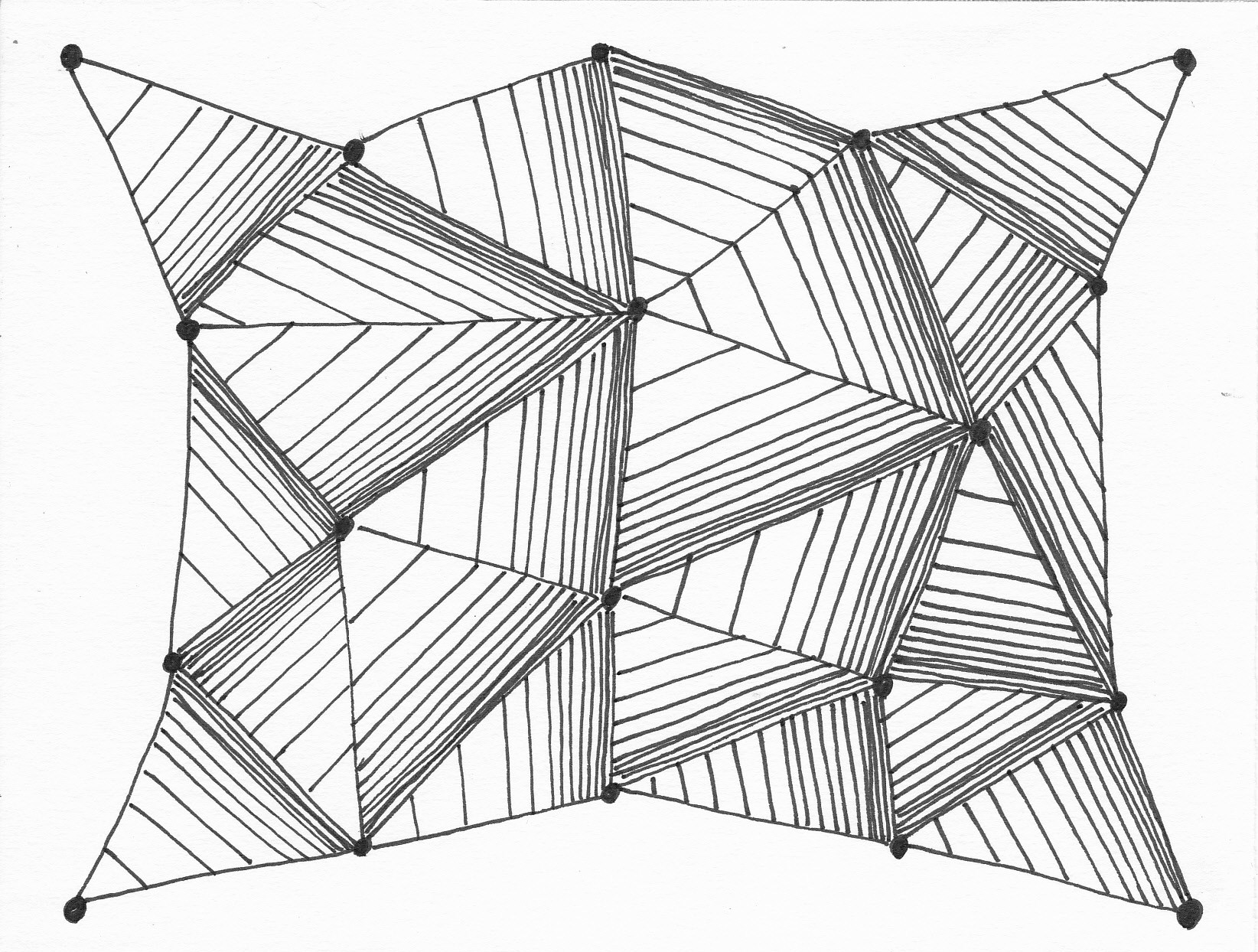 Drawing Lines With Triangle Combination : Triangles drawing at getdrawings free for personal