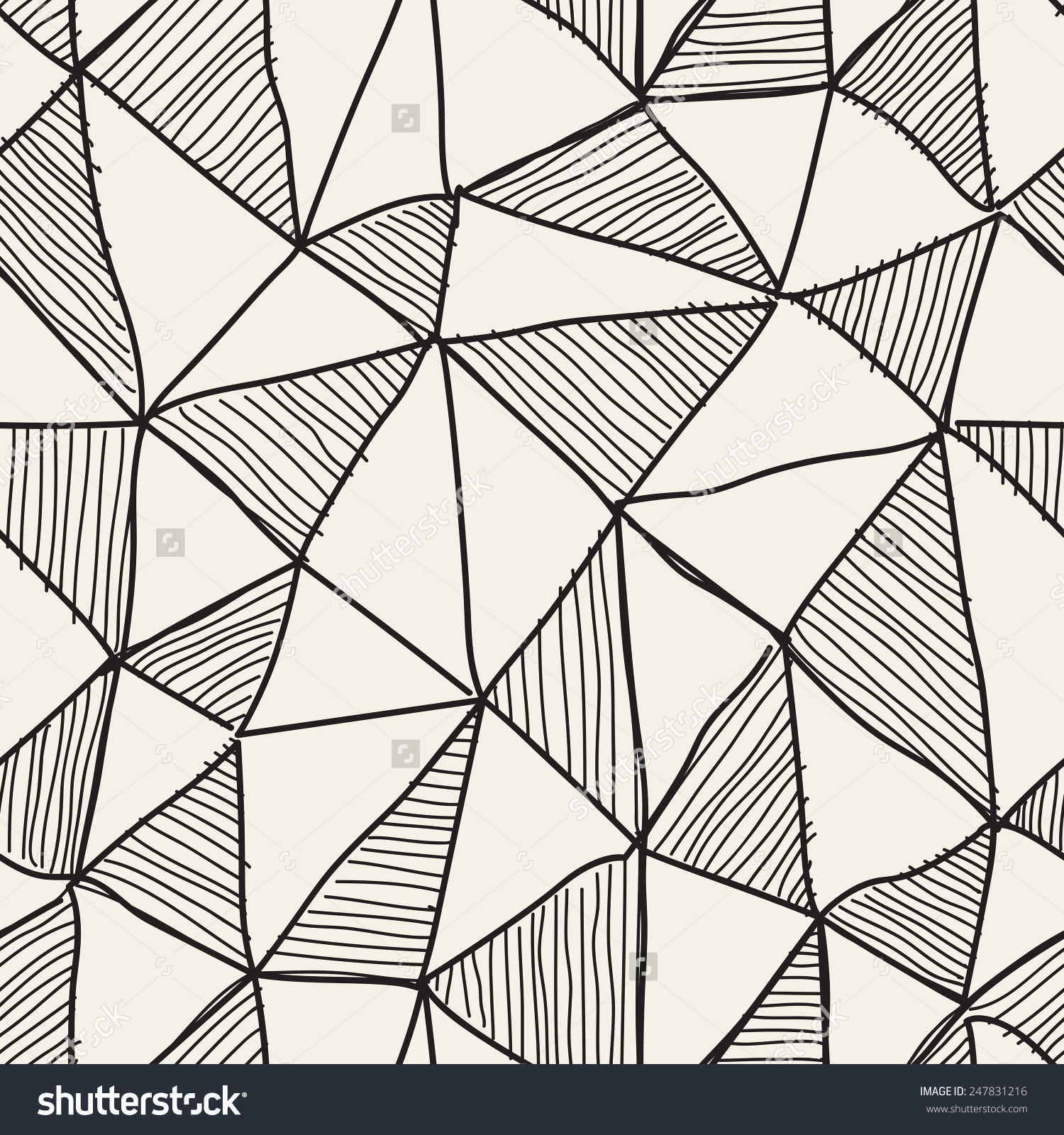 82030fddcb1ad 1500x1600 Vector Seamless Black White Irregular Triangle Stock And Lines