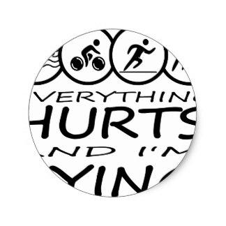 324x324 Funny Triathlon Stickers Zazzle