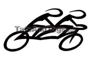 300x200 Tandem Bicycle Tattoo Bicycling Bicycle Tattoo