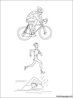 250x335 Triathlon Coloring Pages