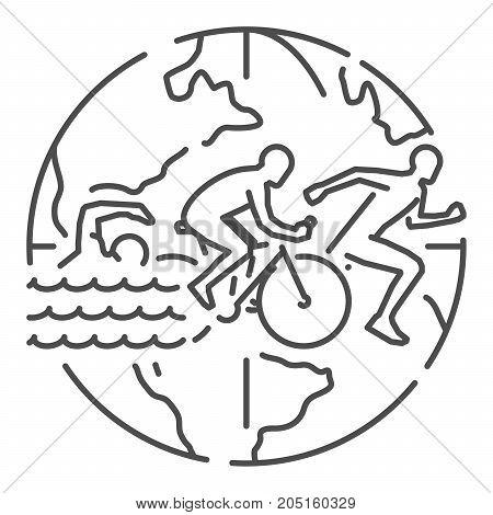 450x470 Triathlon Images, Illustrations, Vectors