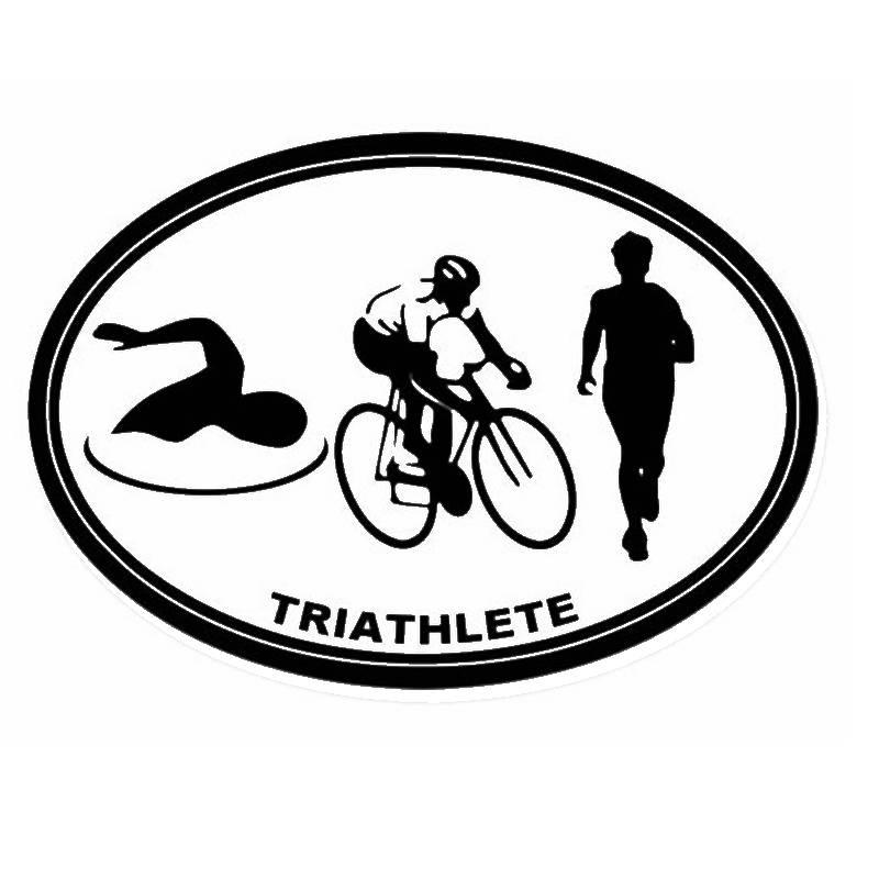 800x800 Triathlon Sticker Logo Name Swimmer Decal Swimming Posters Vinyl