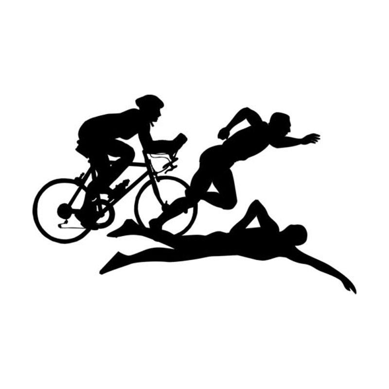 800x800 Wholesale 5pcs,10pcs,13cm8cm Funny Triathlon Sports Car Sticker