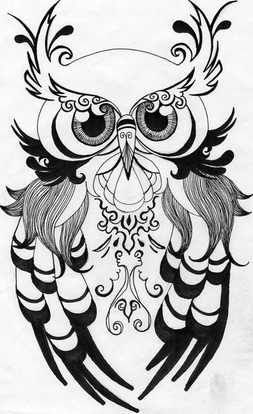 500x819 Chouette Inspiration Owl, Tattoo And Pyrography