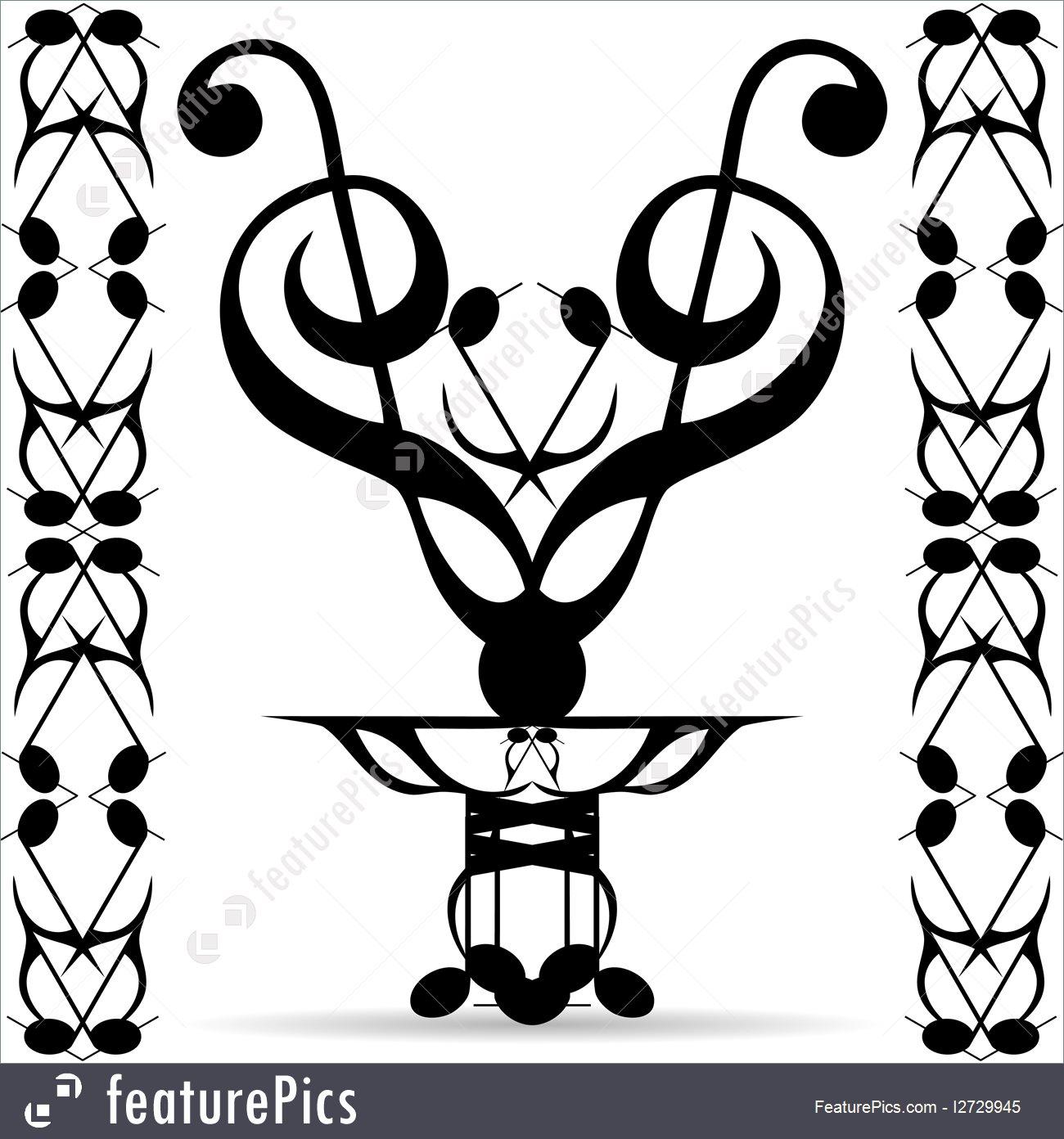 1300x1392 Emblems And Symbols Tribal Art Elements