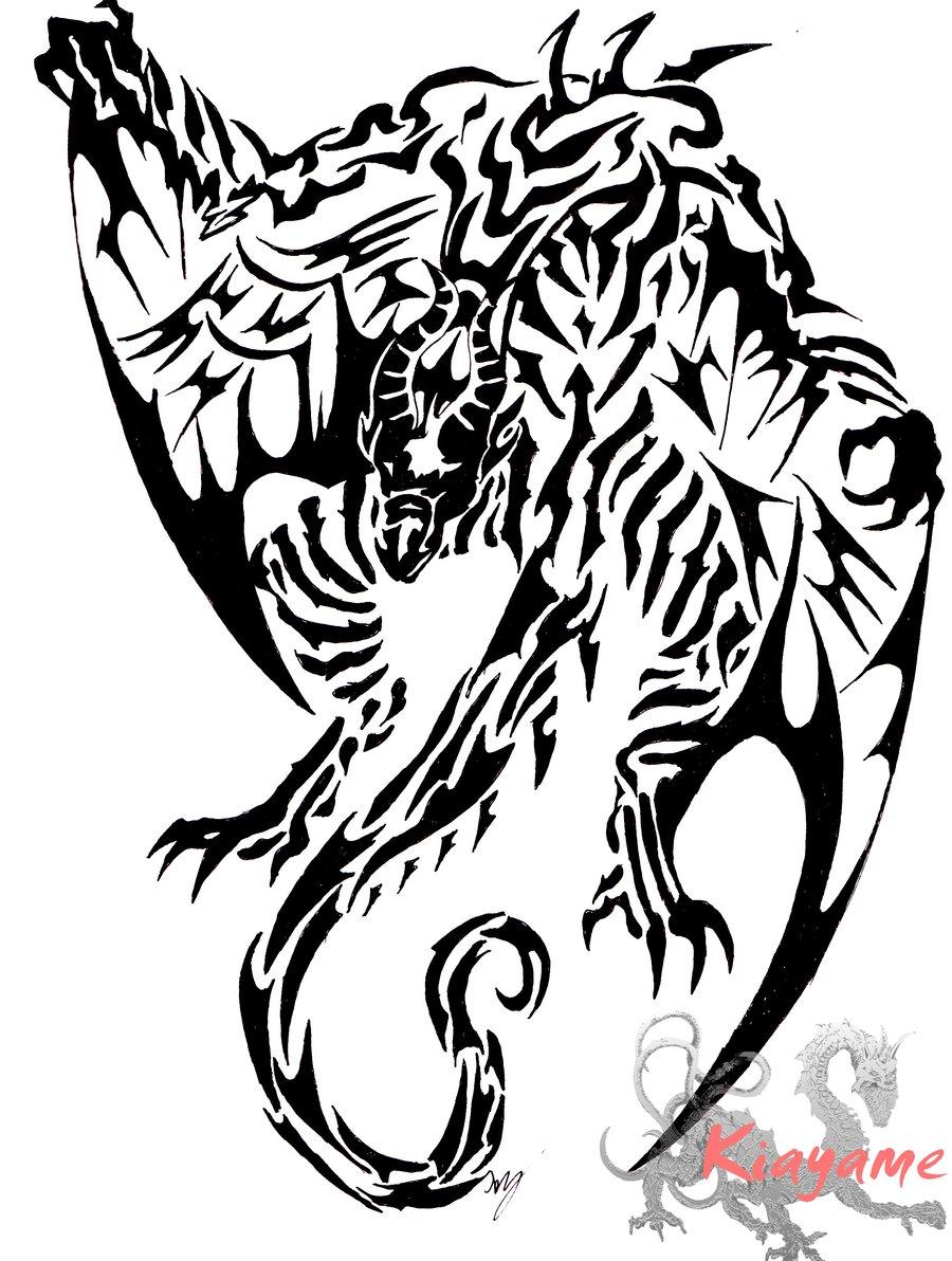 900x1192 First Dragon Tribal By Grenyol