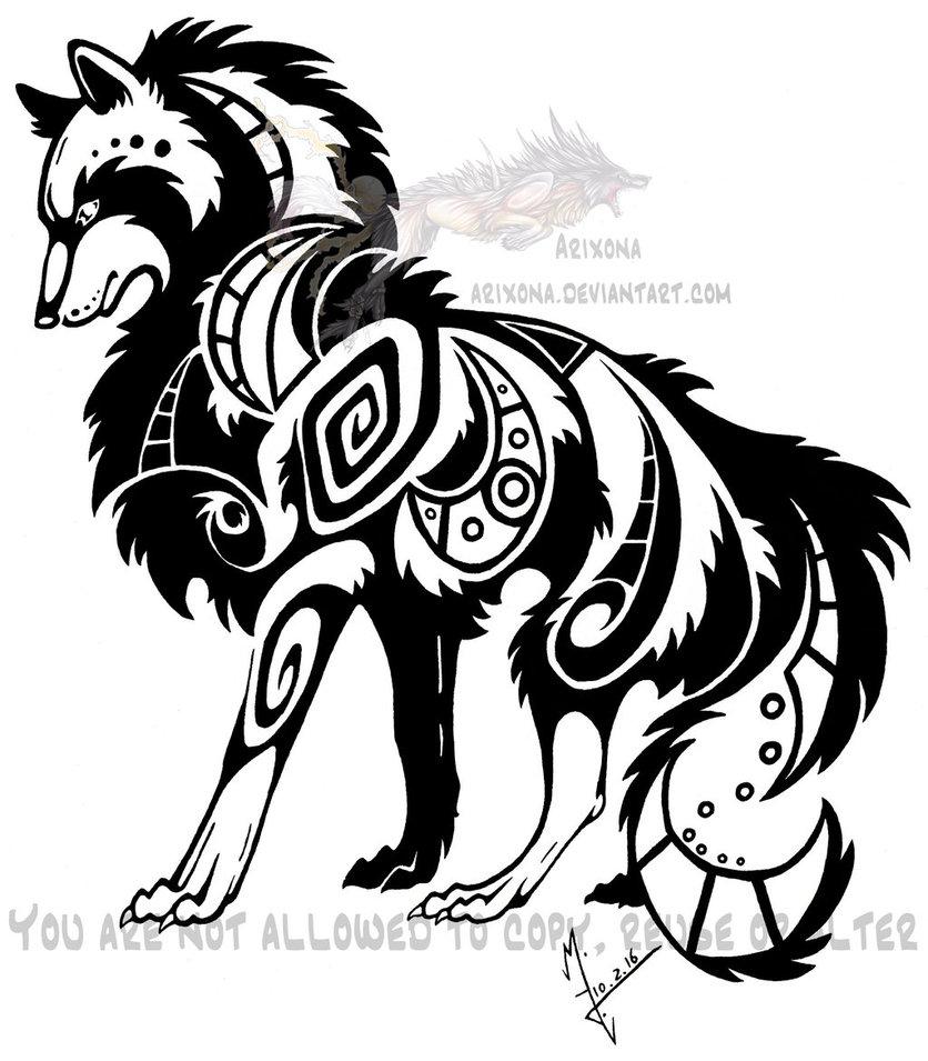 836x955 Posing Tribal Wolf By Arixona On Tribal Designs