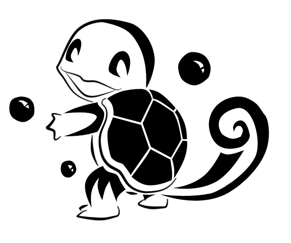 600x501 Squirtle Tribal Tattoo By Nillysue