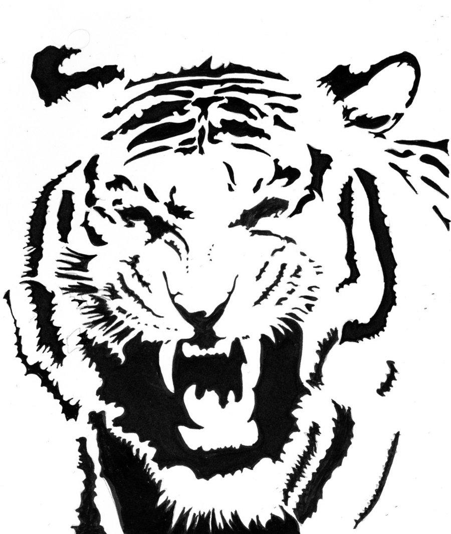 900x1067 Tiger Tribal By Ali Radicali