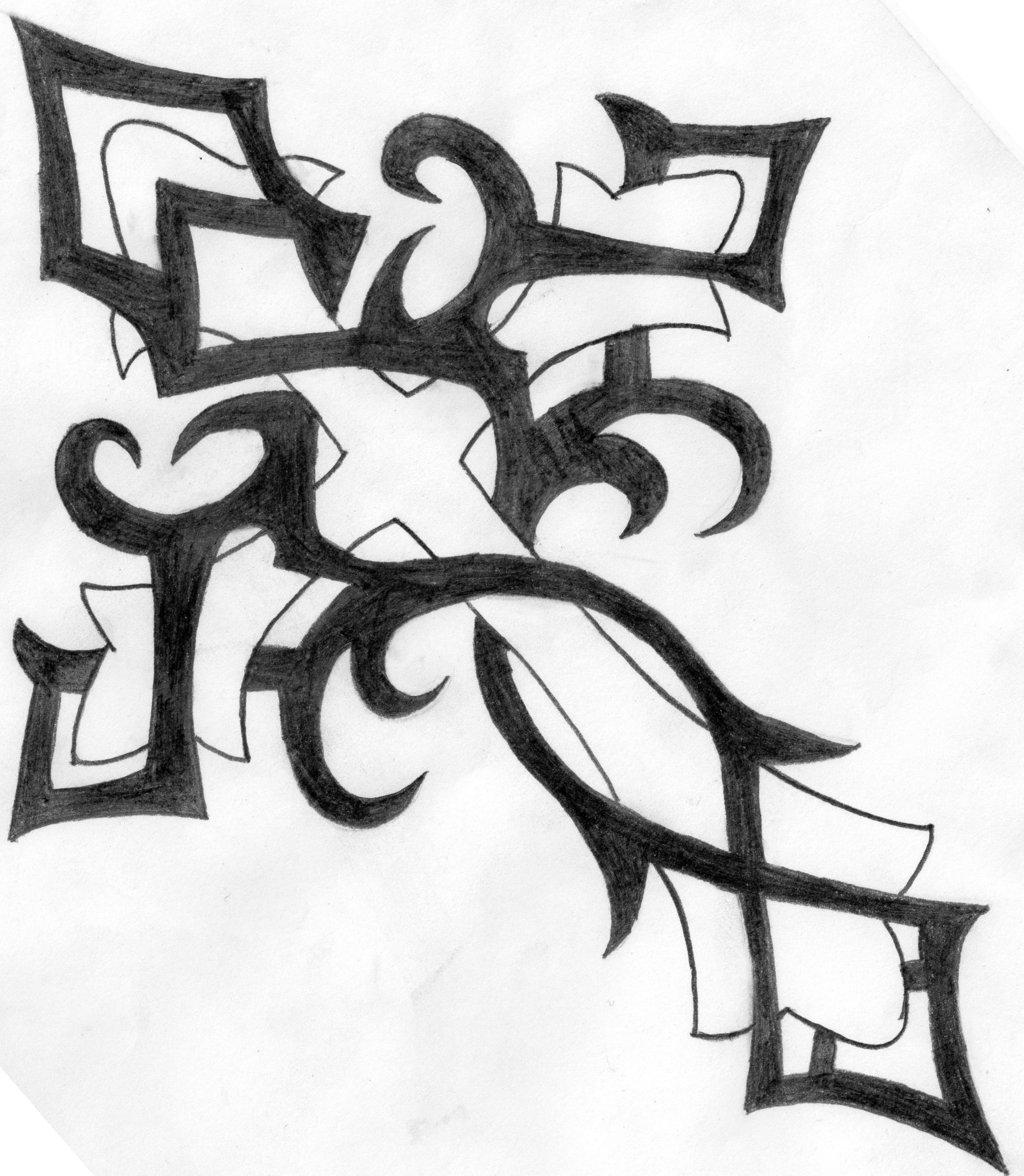 1024x1176 Tribal Cross By Dannyj321
