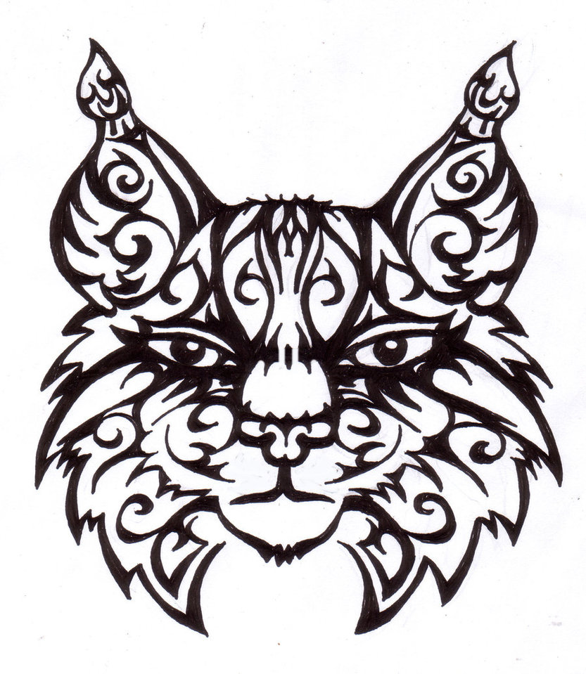 833x959 Tribal Lynx By Xanadra