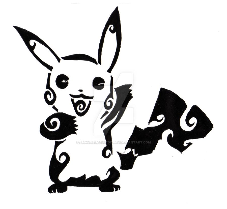 900x829 Tribal Pikachu 2 By Amandanoelledesign