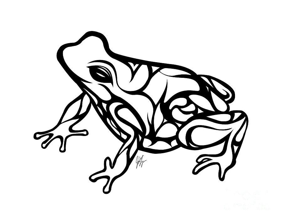900x707 Tribal Ribbet Drawing By Jamie Lynn