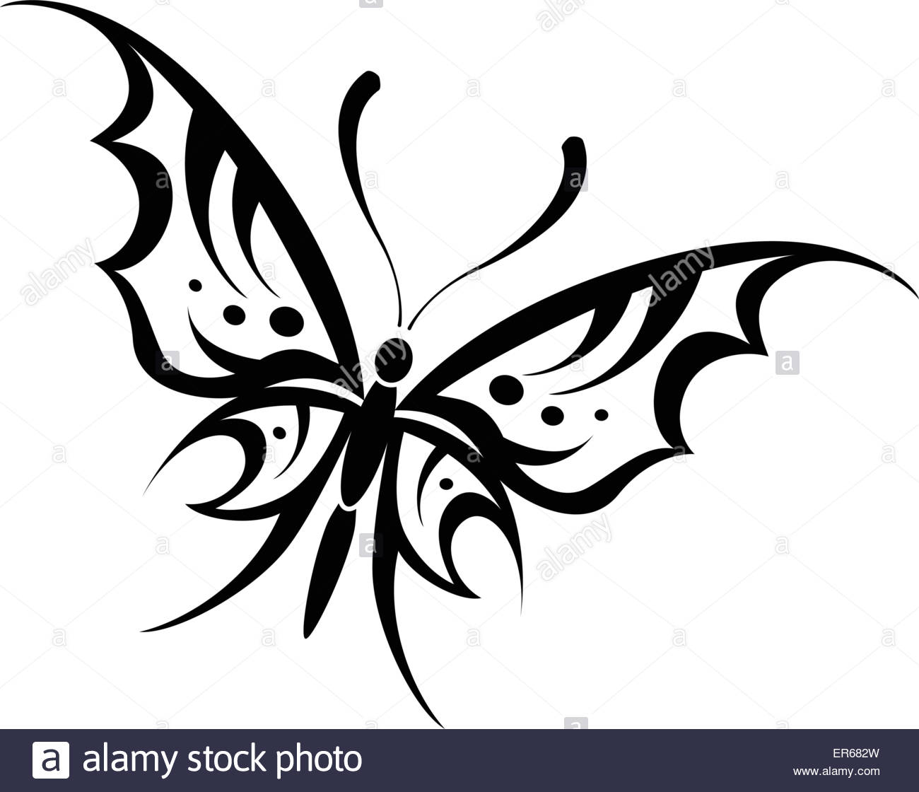 1300x1120 Vector Illustration Of Butterfly Tribal Drawing On White
