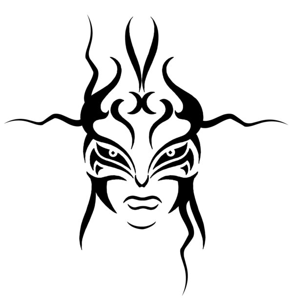 600x609 Tribal Face By Morgenland