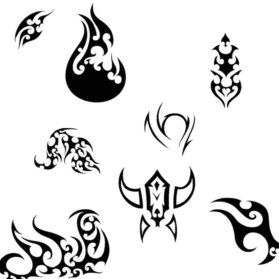 900x900 Various Tribal Drawings By Kinguchia666