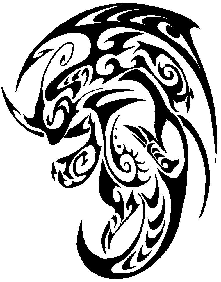 760x970 Dragonite Tribal Tattoo By Canyx