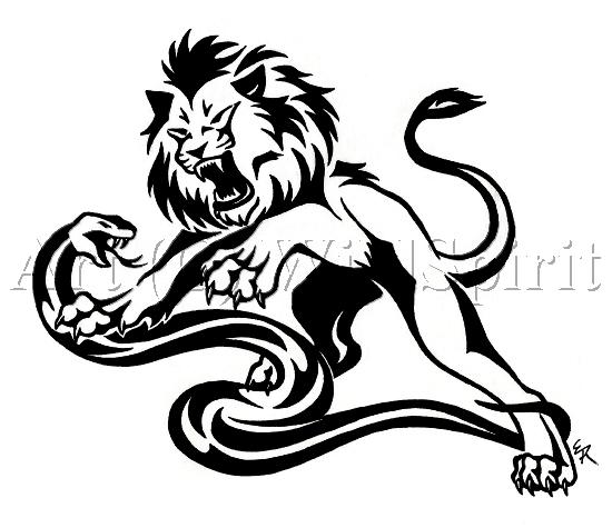 550x475 Drawn Lion Trival