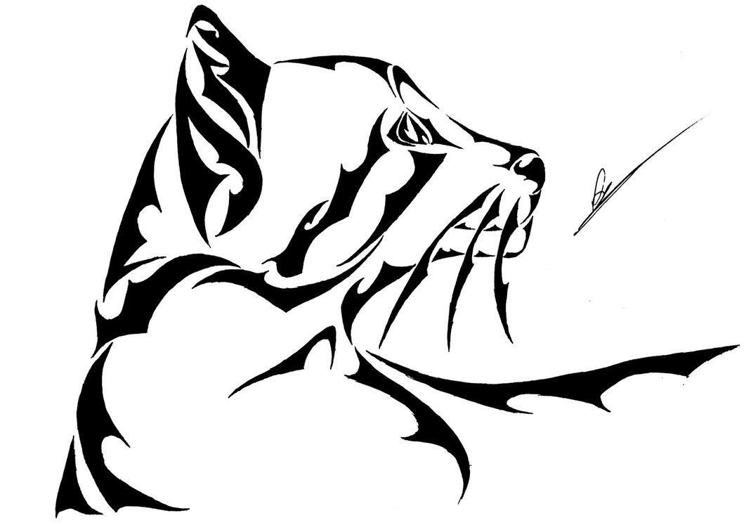 1069x747 Tribal Cat By L4tin G3cko