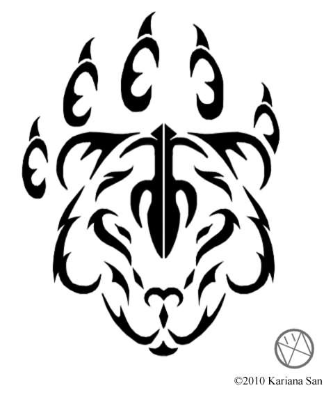 479x570 Tribal Cat Tattoo Sample