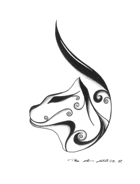 488x640 Cat, Tribal By ~milanthis On Tattoos Tattoo