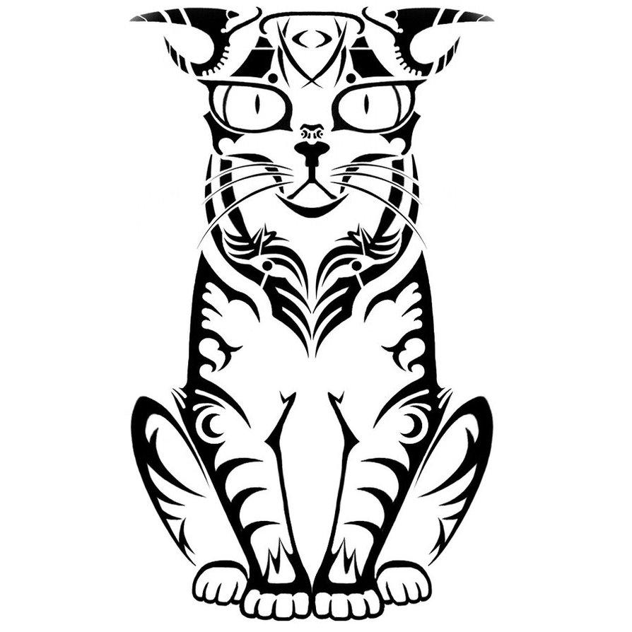 894x894 Random Tribal Cat By 5ktroll30o