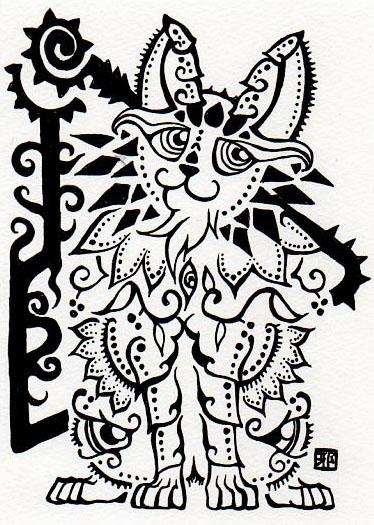 374x525 Semi Tribal Cat By Lutamesta
