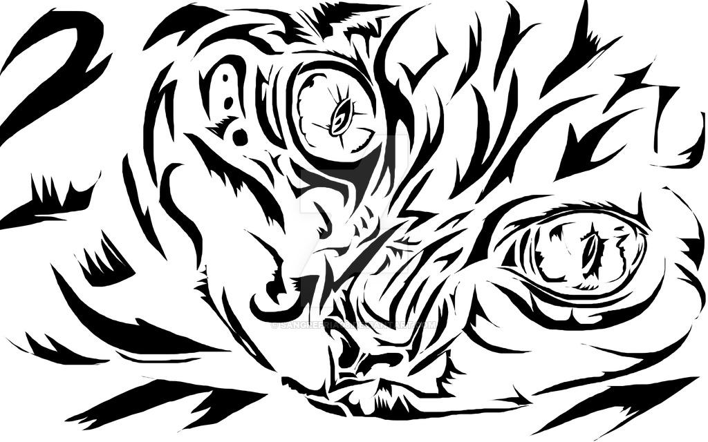 1024x640 Tribal Cat By Sangrefria08