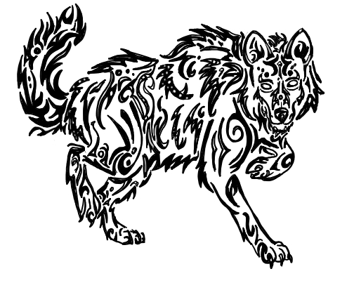 504x403 Tribal Walking Wolf By Silent Howl