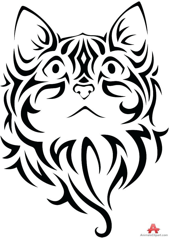 714x999 Cat Clipart Tribal Cat Cute Cat Clipart Face Memocards.co