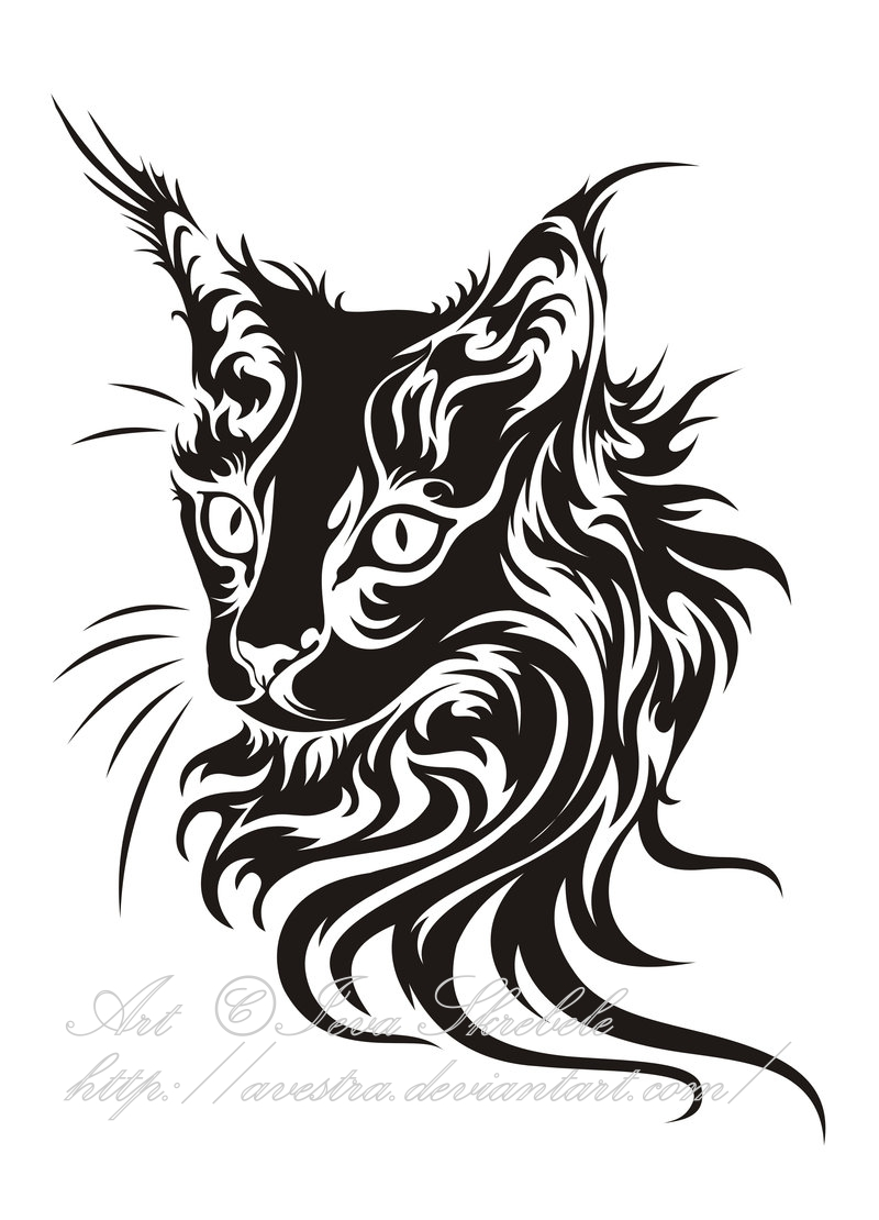 800x1110 Cat Head Tribal By Avestra