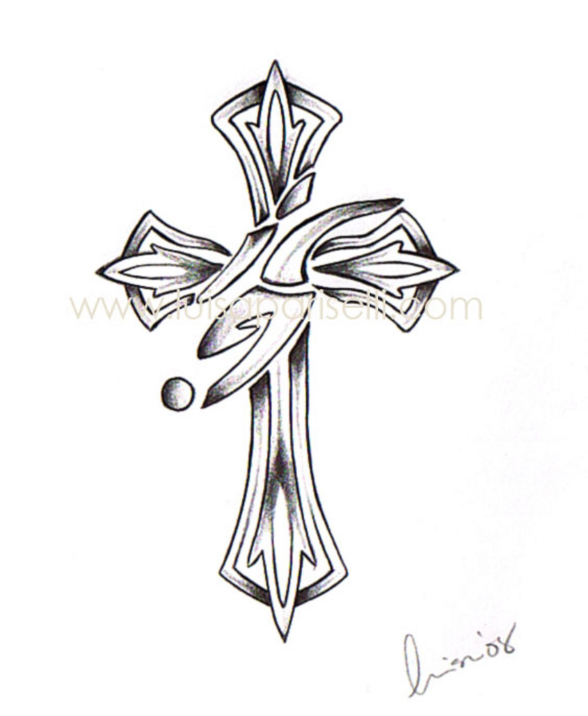 Tribal Cross Drawing At Getdrawings Com Free For Personal Use